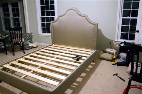 How To Make A Bed Frame With Headboard And Footboard by Diy Upholstered Platform Bed With Curved Headboard