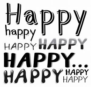 Font Happy Stock Vector - Image: 54834286