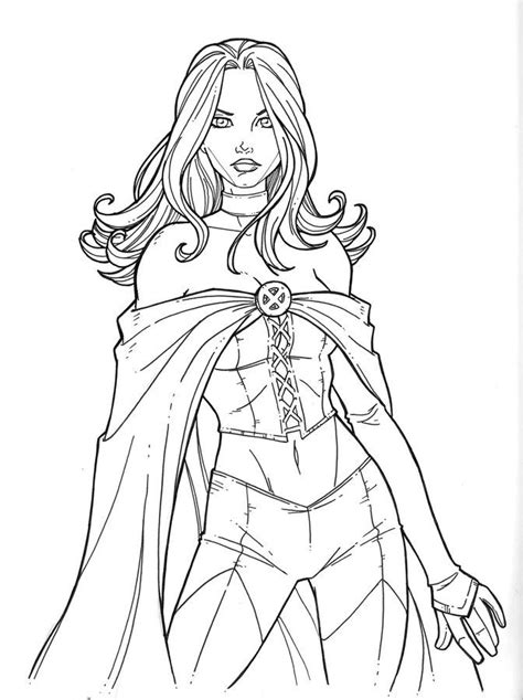 coloring pages coloring pages emma frost printable  kids adults