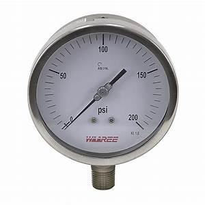 200 Psi 5 U0026quot  Pressure Gauge