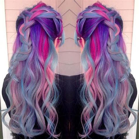 stunning rainbow braids  haircut web