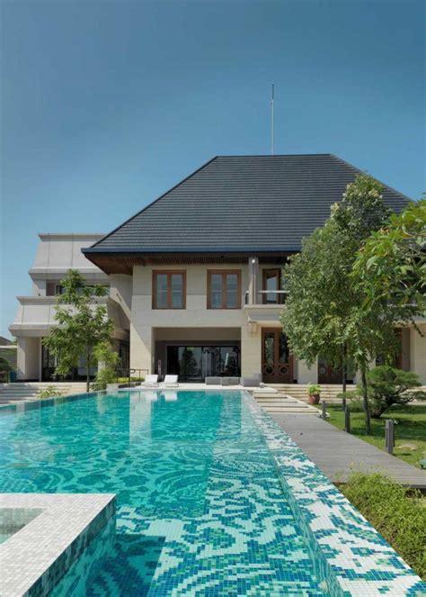 gambar desain rumah minimalis   kolam renangnya