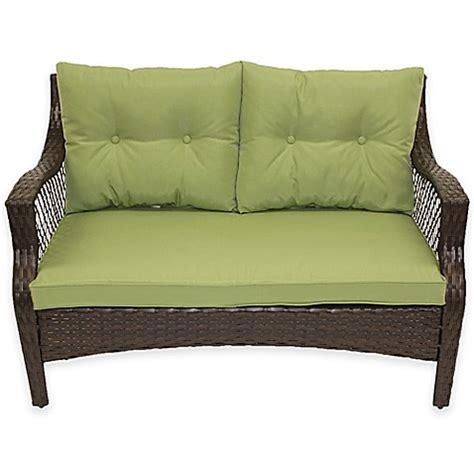 loveseat cushion set stratford 3 outdoor replacement loveseat cushion set