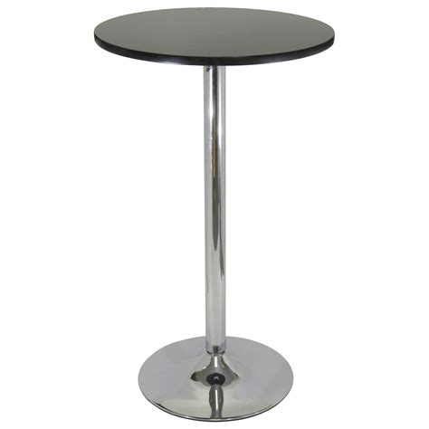 small round pub table metro round pub table black with chrome bar pub tables
