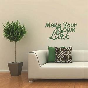 Make your own luck quotes wall decals