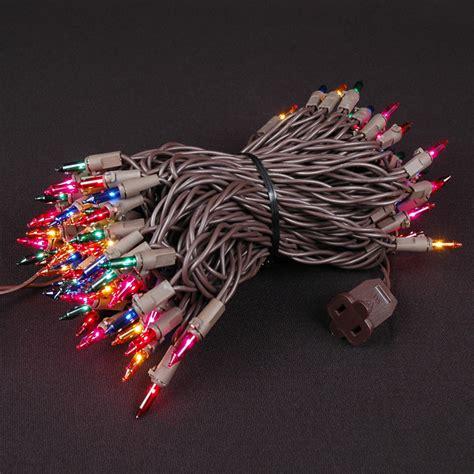mini christmas lights on brown wire novelty lights inc
