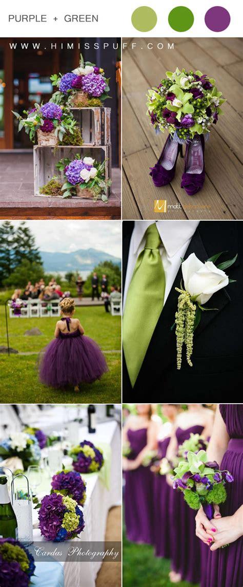 color schemes  weddings    puff