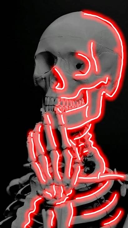 Skeleton Neon Thinking Lights