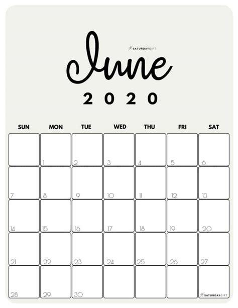 cute  printable june  calendar saturdaygift