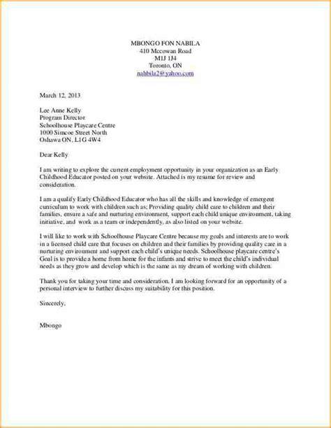 application letter  early childhood teacheride teacher