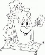Coloring Beer Mug Irish Pages Patrick Printable Saint Leprechaun Jam Monster Truck Imageslist Dibujos sketch template
