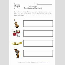 Music Worksheet  Recognizing Instruments