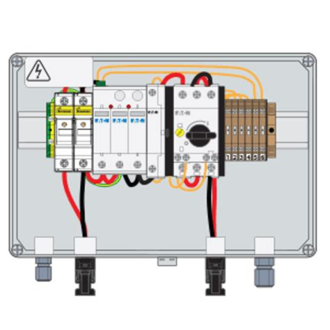 chs controls pv combiner boxes with fuses surge protection and fireman s switch