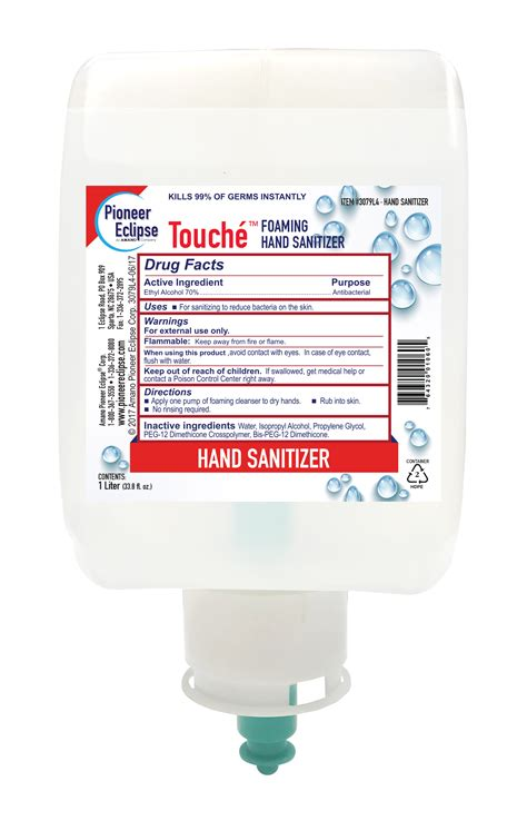 Touche Foaming Hand Sanitizer Pioneer Eclipse