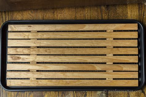 diy attractive wooden boot tray   foyer