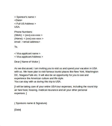 sample invitation letter  consulate  visitor visa