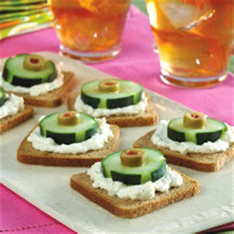 rye bread canapes cucumber olive and rye canapes recipe all recipes uk