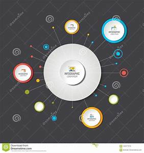 Circle Infographic  Template  Network  Flow Chart  Diagram