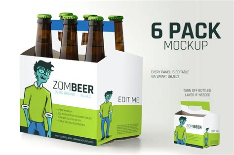 pack carton mock  product mockups  creative market
