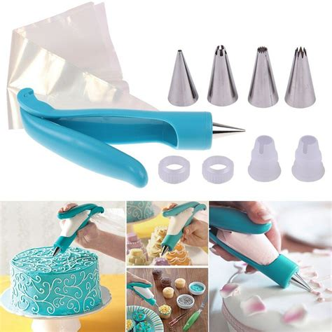 cake decorating icing pens new pastry icing piping bag nozzle fondant cake cupcake
