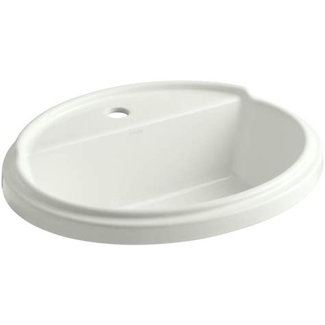 kohler tresham drop in vitreous china bathroom sink in dune with overflow drain 2992 1 ny the