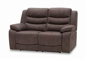 Ashleigh Fabric 2 Seater Sofa with Manual Recliners