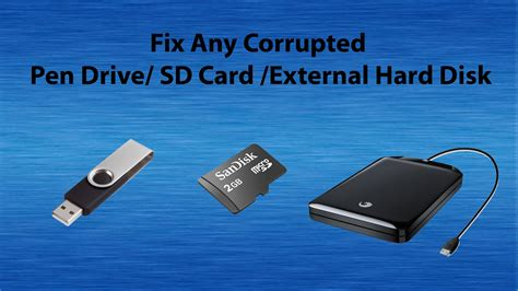 However, in the actual fixing process, some unknown reasons, sudden emergencies or misoperation may also cause data damage or loss. Repair Corrupted Memory Card / Pendrive / External Hard Disk. - Corrupted Memory Unable to ...