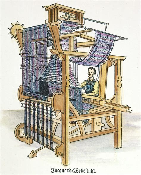 century wall jacquard loom photograph by granger