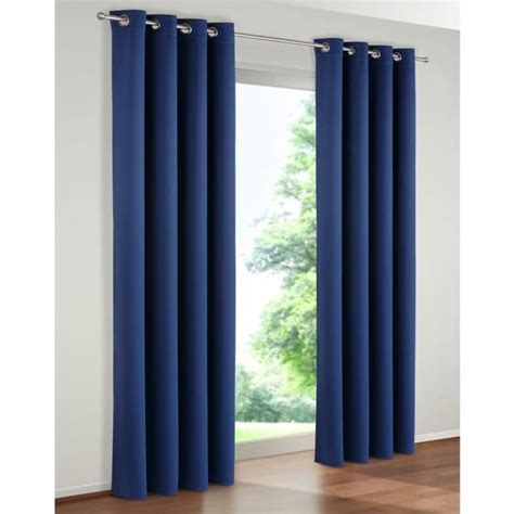 paire de rideaux rideau occultant couleur bleu 140 x 260 achat vente rideau voilage
