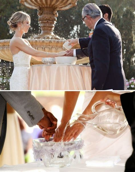 wedding unity ceremony ideas hand washing  bride