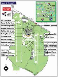 32 Austin Bergstrom Airport Map