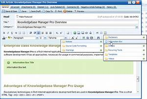 whats new in knowledge base manager pro v52 With knowledge base document template