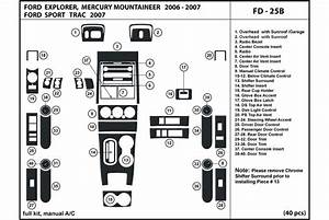 2007 Mercury Mountaineer Window Diagram