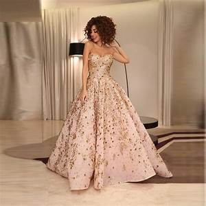 fashion formal dresses with beaded crystal sweetheart neck With robe peche