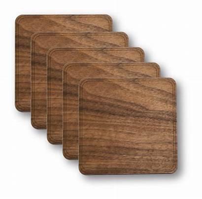 Coasters Wood Pack Solid Walnut