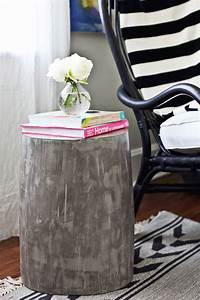 diy lightweight cement side tables a beautiful mess