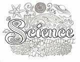 Science Coloring Brain Pages Easy sketch template