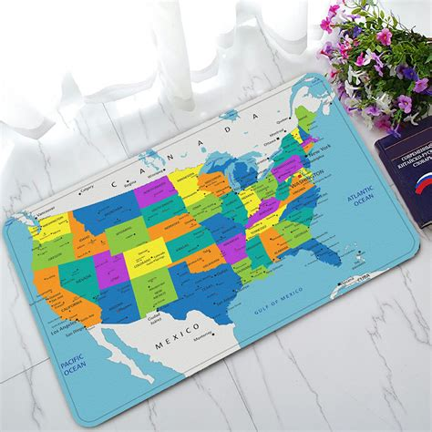 colorful doormat phfzk educational doormat colorful united states of