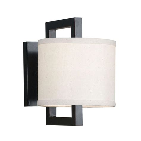 wall sconces home depot kenroy home endicott 1 light rubbed bronze wall sconce