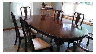 Ethan Allen Dining Room Sets by Vintage Ethan Allen Kling Solid Cherry Dining Room Table And 7 Chairs EBay