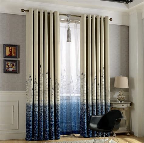 mediterranean style blackout curtains for living room