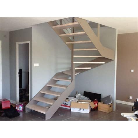 escalier 2 quart tournant limon metal droit