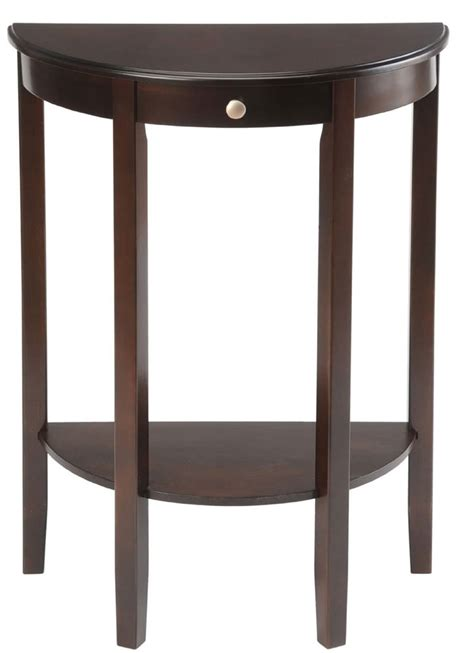 half circle side table bay shore half circle console table in accent tables