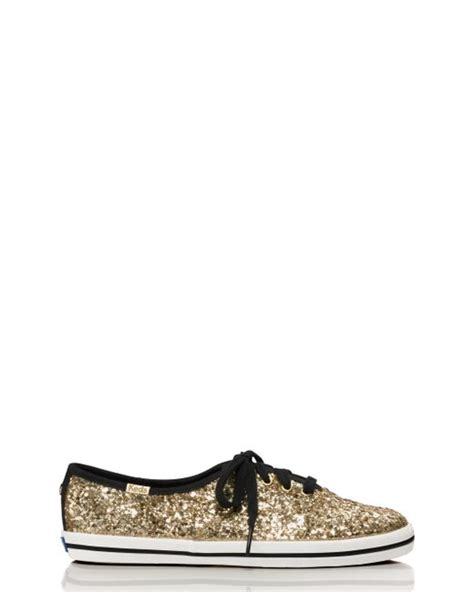 keds wh57728 gold kate spade new york keds for glitter sneakers in metallic