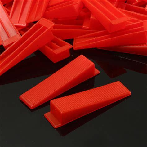 400pcs tile leveling plastic spacers tiling clips wedges