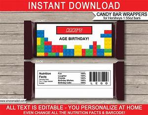 templates for candy bar wrappers - lego hershey candy bar wrappers personalized candy bars