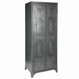 Armoire Vestiaire Metal : cuisine armoire rangement en metal armoires avec portes ~ Edinachiropracticcenter.com Idées de Décoration