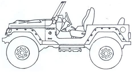 lifted jeep drawing the gallery for gt jeep wrangler drawing
