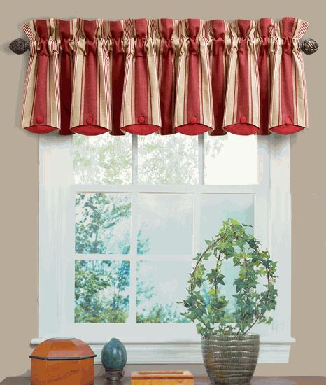Striped Valances by Yacht Club Stripe Crimson Chatham Valance By Waverly Is A