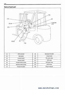 Toyota Forklift Seat Diagrams Manual